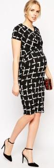 Maternity Dress i Check Print ASOS sida