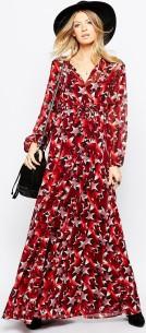 Maxi Dress i Star Print fram1
