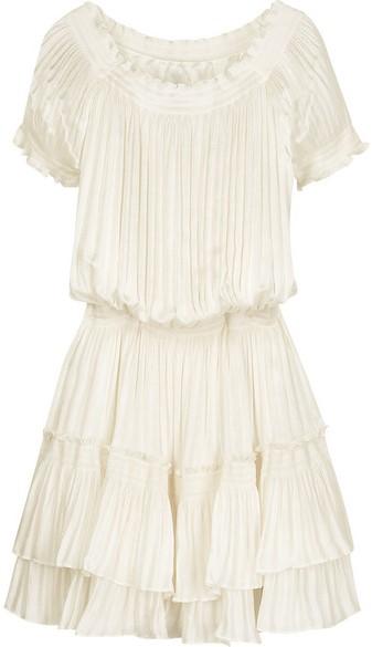 'Maxima' Pleated Crepe Dress Diane von Furstenberg singel
