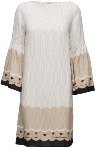 Mila Border Dress i Sand Rodebjer