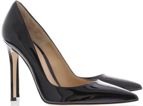 Patent Pointed Pump Black Gianvito Rossi