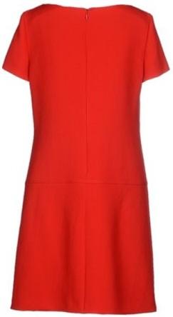Prada röd klänning bak