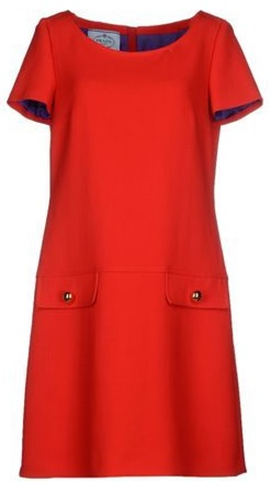 Prada röd klänning fram