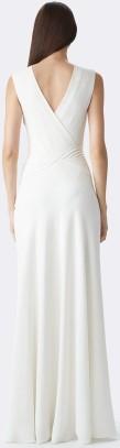 Ralph Lauren Cream Dora V-Back Gown Beige bak
