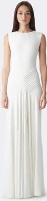 Ralph Lauren Cream Dora V-Back Gown Beige fram