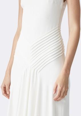 Ralph Lauren Cream Dora V-Back Gown Beige närbild