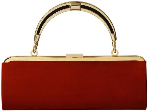 Röd handväska i Mocka Balmain for HM