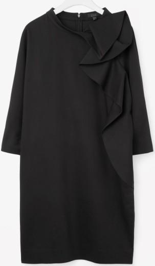 Rounded Drape Dress i Black COS singel