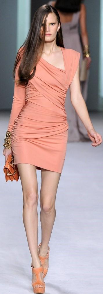 Silk Jeresy Cocktail Dress i Coral Elie Saab