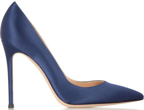 Silk Pumps Blue Gianvito Rossi