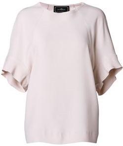 'Sofronia' feminine short sleeve blouse - dusty rose by malene birger