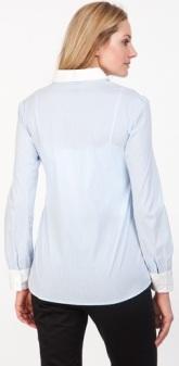 Striped Cotton Shirt Serpahine bak