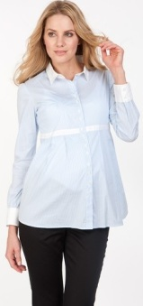 Striped Cotton Shirt Serpahine fram igen