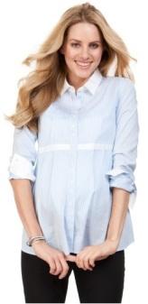Striped Cotton Shirt Serpahine fram