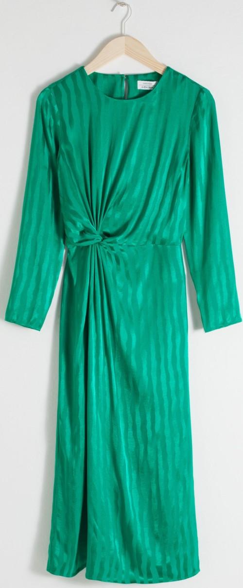 Striped Twist Knot Midi Dressi Green & Other Stories.jpg