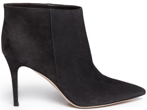 Suede Ankle Boots i Black Gianvito Rossi