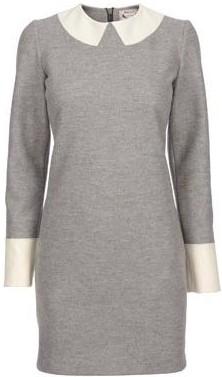The Michael Bastian School Girl Dress i Dark Grey Melange GANT