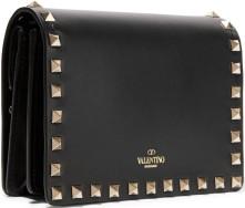 The Rockstud Leather Shoulder Bag i Black Valentino sida