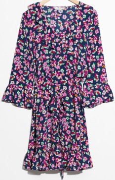 Tie Frill Dress i Blue Floral & Other Stories