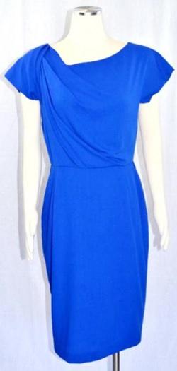 Virgin Wool Dress i Electric Blue från Escada