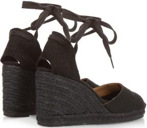 Wedge Sandals i Black Castaner bak