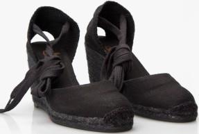 Wedge Sandals i Black Castaner fram