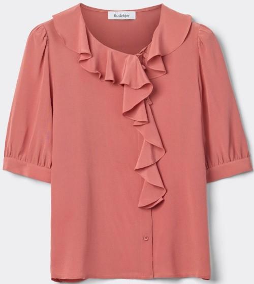 'Xilla' Silk Top i Pink Rodebjer