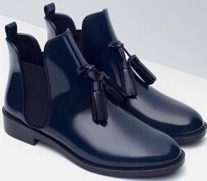 zara-blue-steel-flat-bootoes-with-tassel