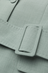 'Anitalia' Suit Blazer i Mint Rodebjer närbild