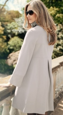 Blush Wool Coat back