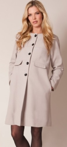Blush wool coat