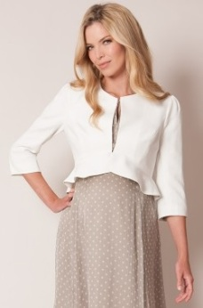 Cropped Peplum Jacket fram
