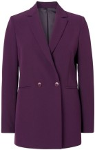 Diamond G Double-Breasted Blazer i Potent Purple GANT