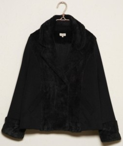 Hairy Faux Fur Aviator Jacket i Black By Ti Mo