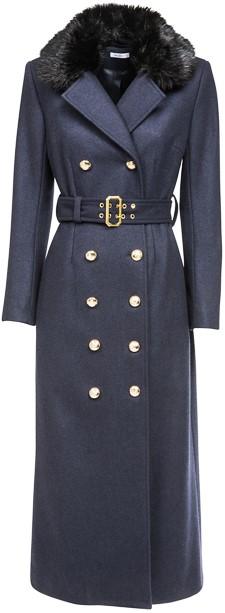 'Jules' Coat i Navy Ida Sjöstedt fram