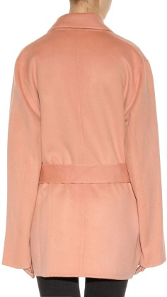 'Lilo' Wool and Cashmere Coat i Pale Pink Acne Stduios bak