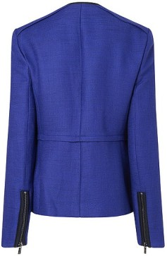 Newton Biker Jacket with trim detail i Blue L.K. Bennett bak