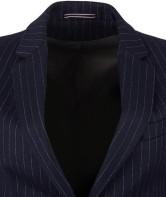 Pinstriped Wool Blazer i Navy GANT slag