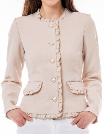 'Rosie' Jacket i Beige Veronica Virta