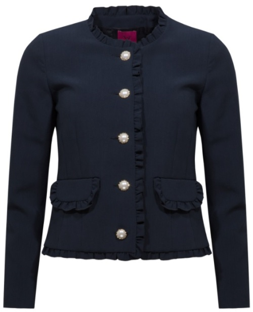 'Rosie' Jacket i Navy Blue Veronica Virta