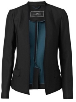 'Foca' Structured Blazer i Black By Malene Birger fram