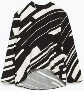 Zara top svart-vit
