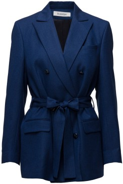 'Zoe' Blazer i Workwear Blue Rodebjer