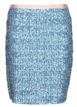 Blå paljettkjol