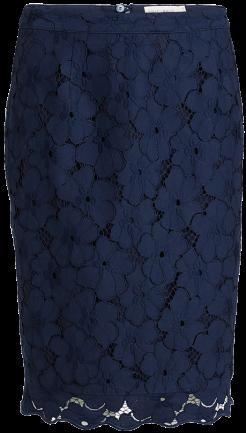 Blå spetskjol bak Lindex