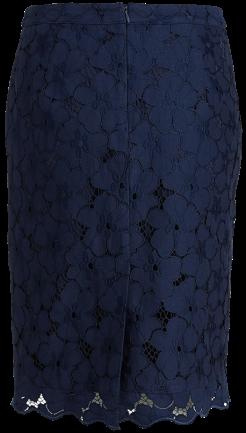 Blå spetskjol fram Lindex