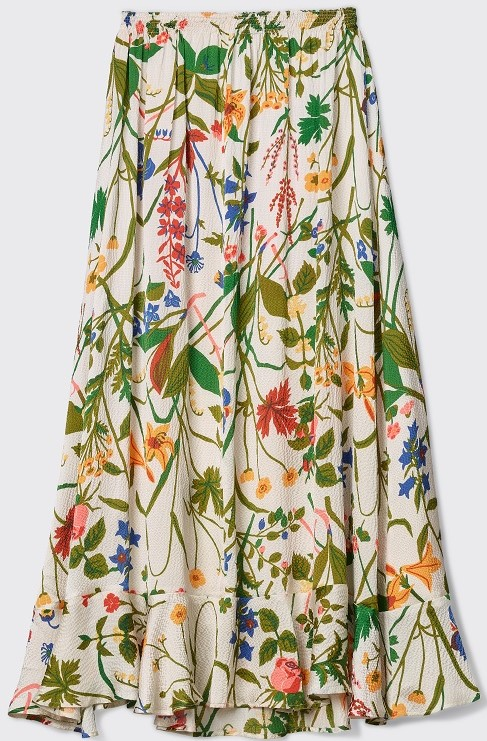 'Irmaline' Rose and Lily Skirt i Ecru Rodebjer