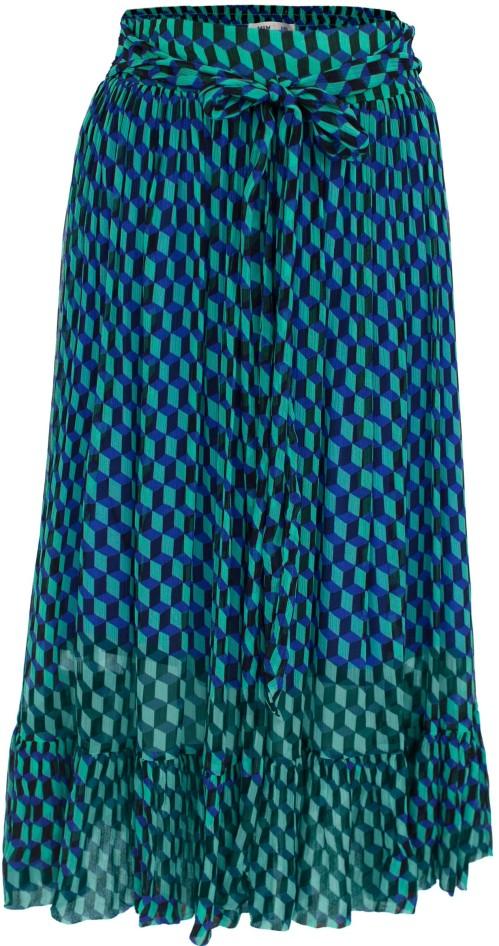 'Selda' Midi Skirt i Blue Baum und Pferdgarten