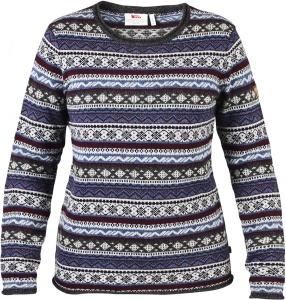 Övik Folk Knit Sweater W i 520 - Uncle Blue Fjällräven
