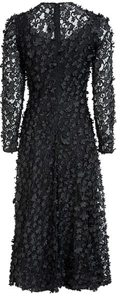 'Camille' Dress i 3D Black Ida Sjöstedt bak